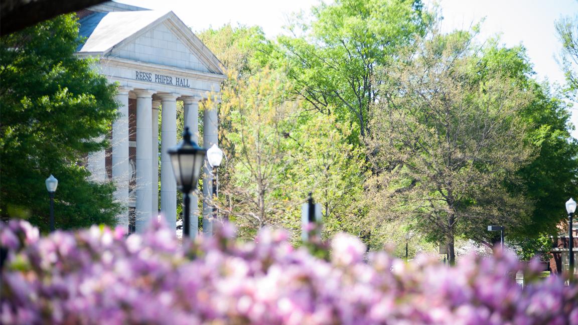 Reese Phifer Hall in Spring