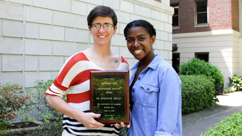 Dr. Meredith Bagley Receives Other Club's Outstanding Faculty Award