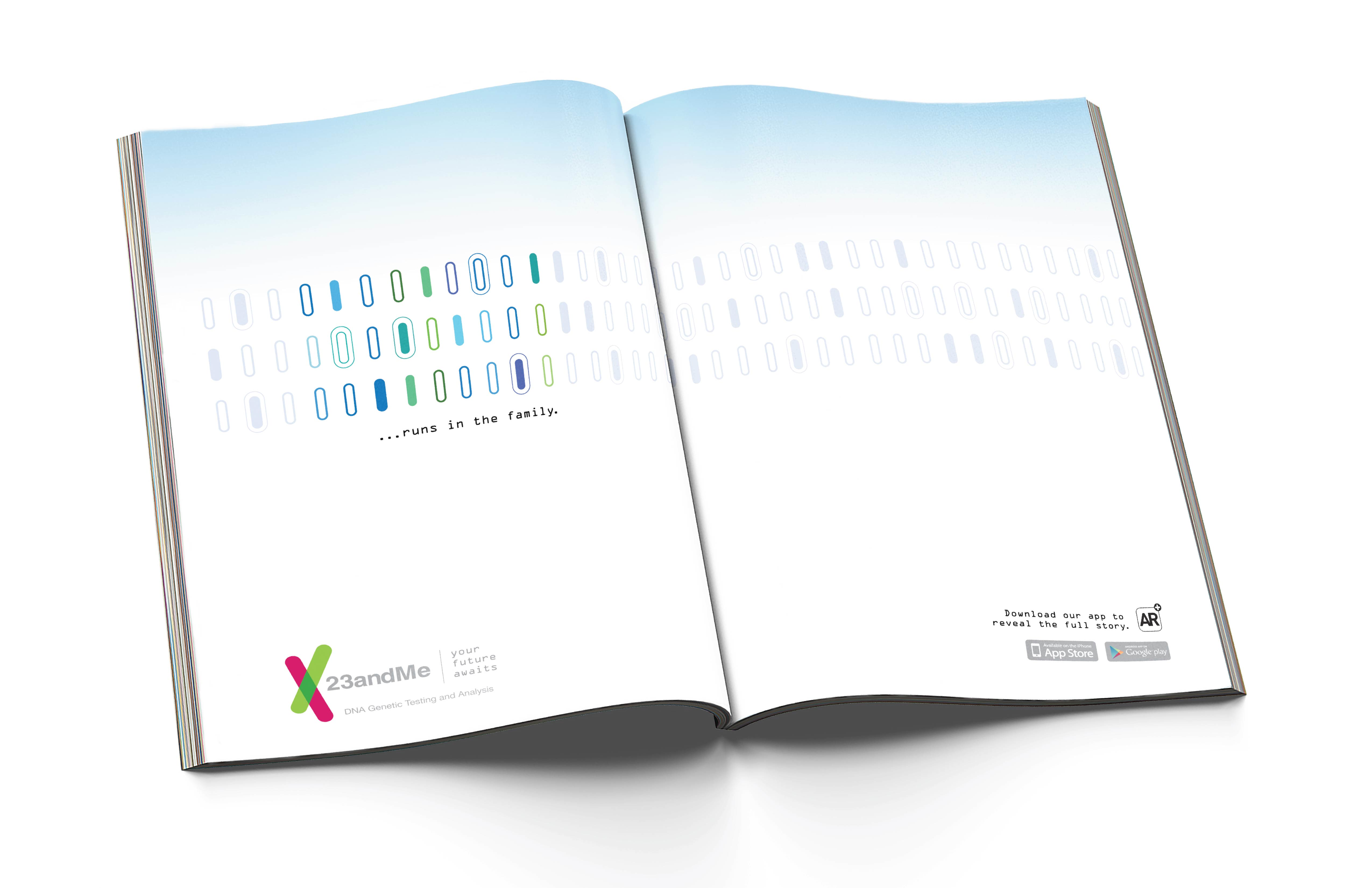 23andMe ad by Charlotte Frank and Liz Swartz