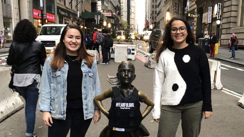 C&IS Students Behind 'Fearful Girl' Project