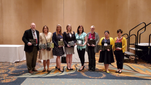 Kiley Lord (fourth from left) received the Franklin Shirley Award for the Top Undergraduate Honors Conference Paper at the Southern States Communication Association (SSCA) Convention.