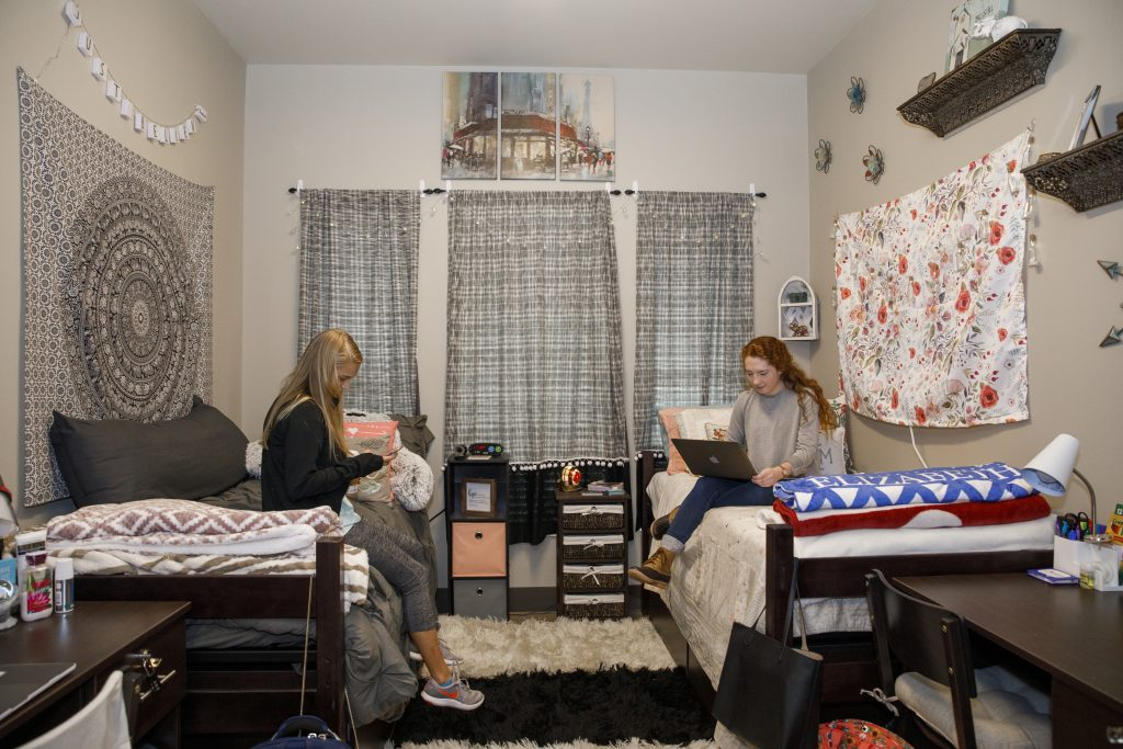Students in the Living-Learning Community in their room at John England Jr. Hall.